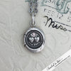 Forever Victorian Wax Seal Necklace with White Sapphire