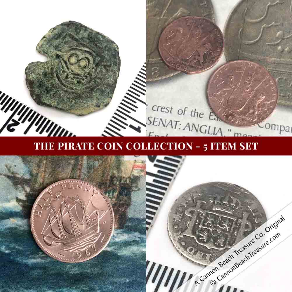 Legendary Coins of the Pirate Era Collection - 5 Item Set | Artifact #G3136