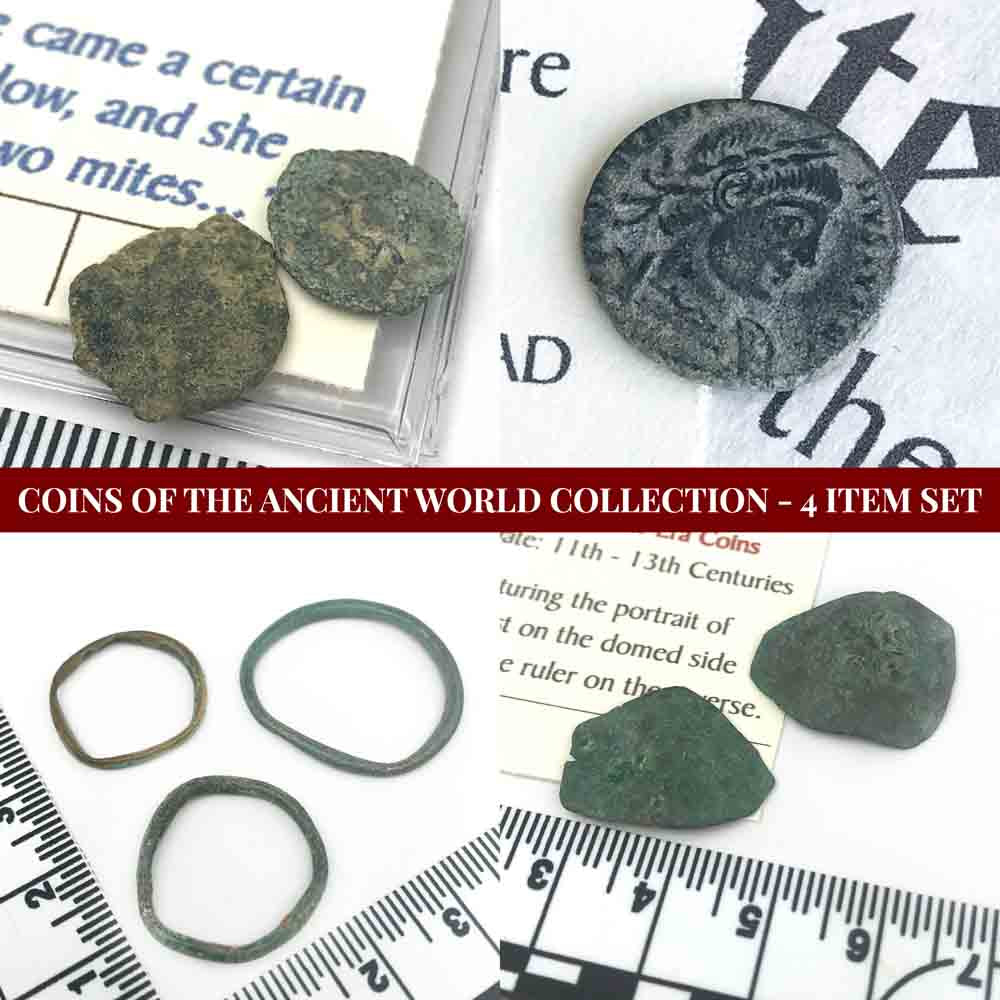 Coins of the Ancient World - 4 Item Set - Ancient Bronze Coins