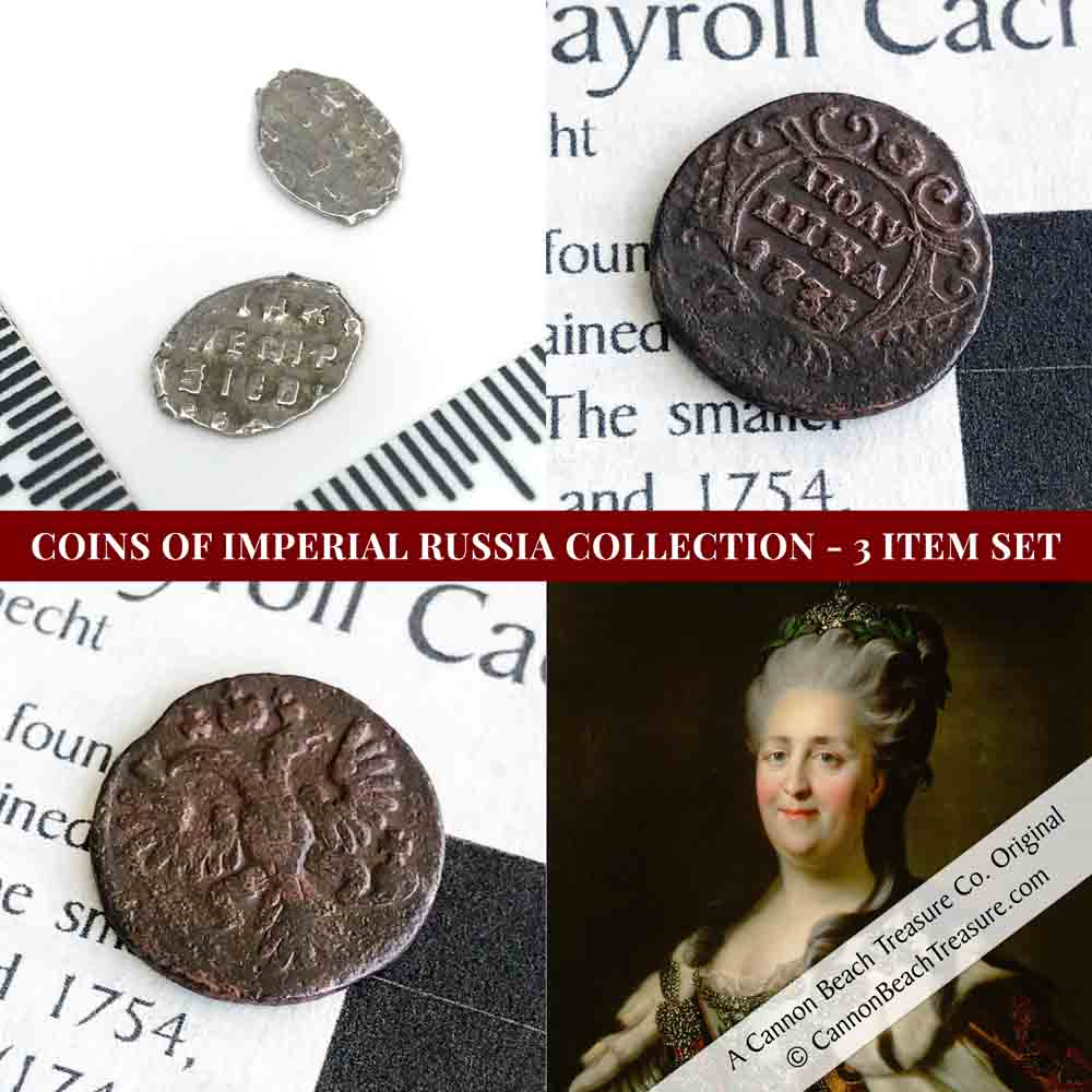 Coins of Imperial Russia Collection - 3 Item Set