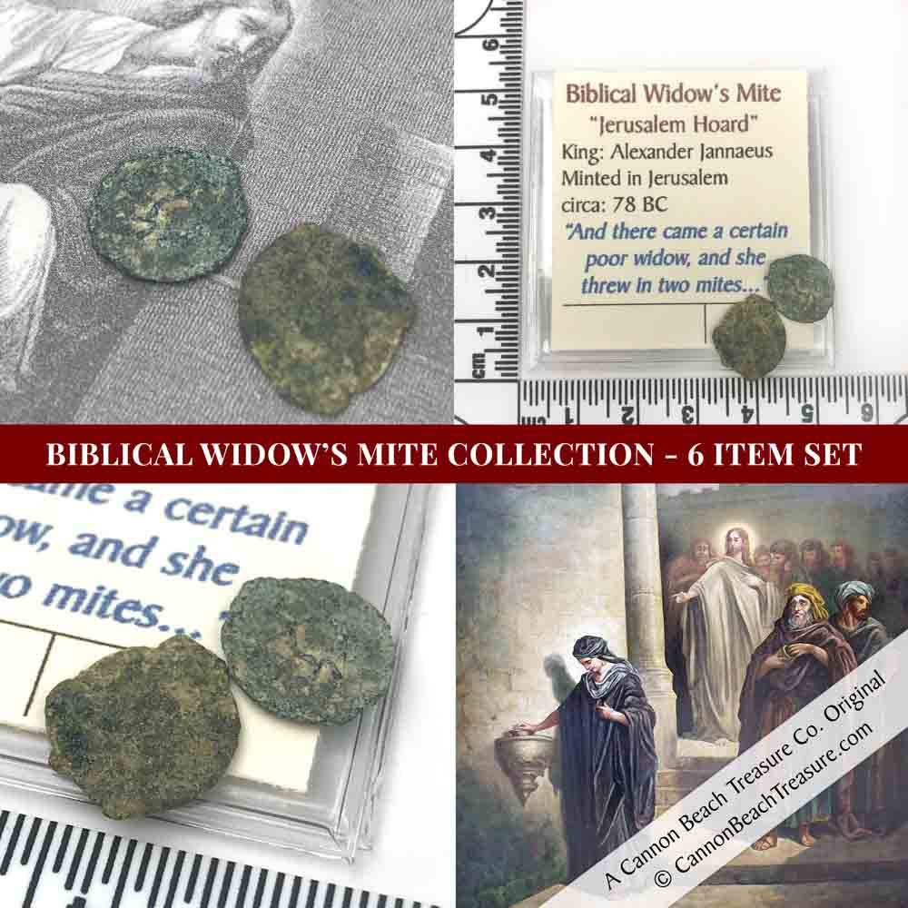 SIX - Biblical Bronze Widow's Mites  Circa 78 BC 2 Pack