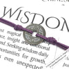 Intention: WISDOM - Smooth Patina Authentic Chinese Shipwreck Coin Wrap Bracelet & Necklace in Royal Purple