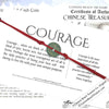 Intention: COURAGE - Rustic Patina Authentic Chinese Shipwreck Coin Wrap Bracelet & Necklace in Rich Red