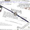 Intention: BELIEVE - Rustic Patina Authentic Chinese Shipwreck Coin Wrap Bracelet & Necklace in Midnight Navy