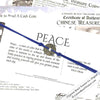 Intention: PEACE - Smooth Patina Authentic Chinese Shipwreck Coin Wrap Bracelet & Necklace in Royal Blu