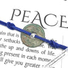 Intention: PEACE - Rustic Patina Authentic Chinese Shipwreck Coin Wrap Bracelet & Necklace in Royal Blue