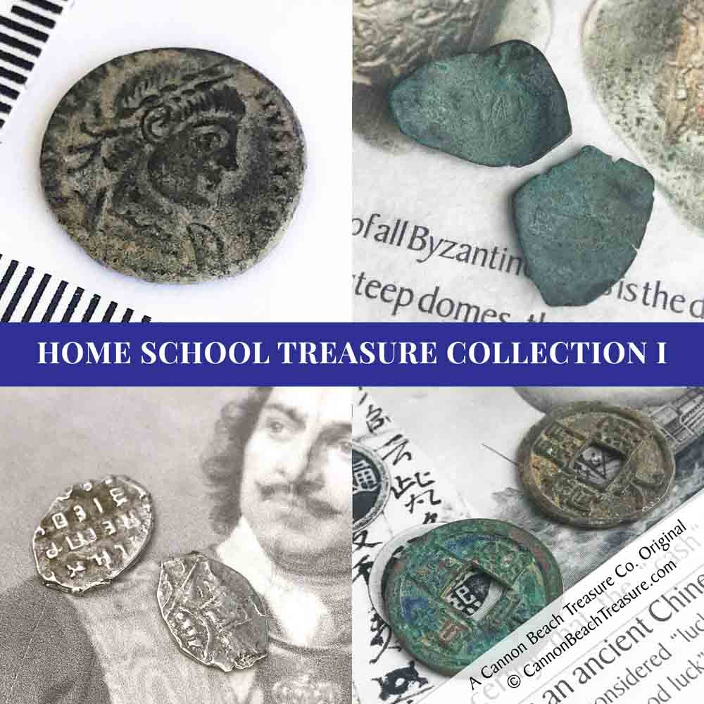 Home School Collection I - 7 Item Set - Silver, Bronze and Copper Coins | Artifact #G5144