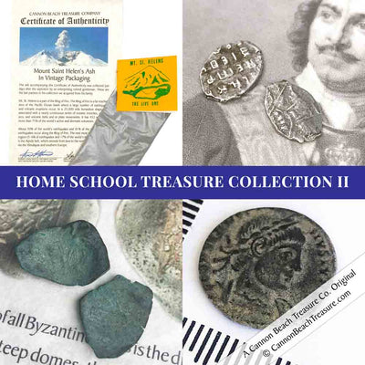 Home School Collection II - 4 Item Set - Silver and Bronze Coins Included | Artifact #G5145