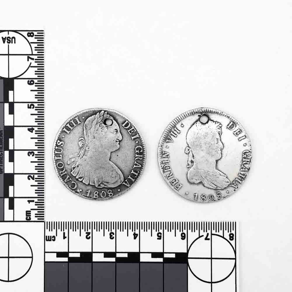Pierced Potosi Bolivia Silver 8 Reale Spanish Portrait Dollar Early 1800s