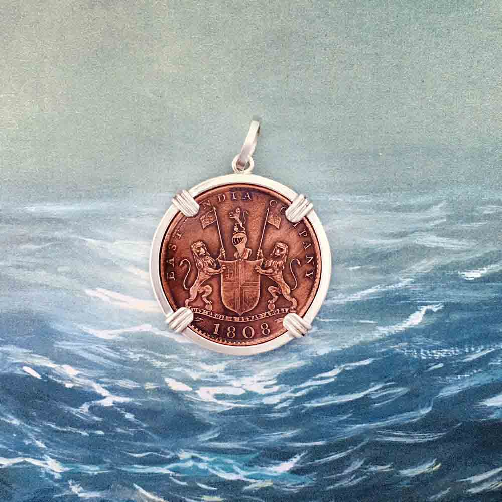 Admiral Gardner Shipwreck Coin Sterling Silver Necklace | Grade 1 Gem Quality