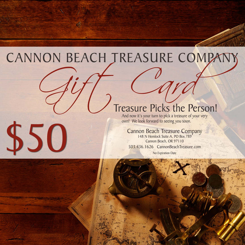 Cannon Beach Treasure Company Gift Card $25