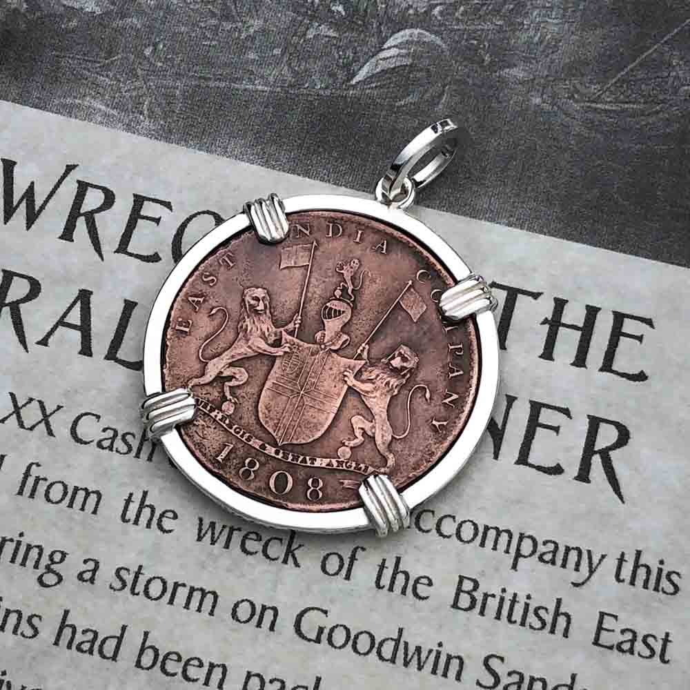 Admiral Gardner Shipwreck Coin Sterling Silver Necklace | Grade 1