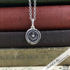 Scottish Thistle Scotland the Brave Silver Wax Seal Necklace