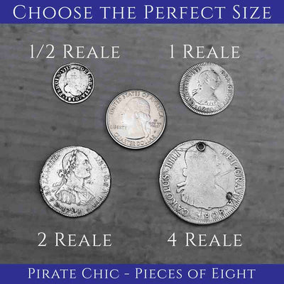 Spanish Pirate Treasure Coin Sizes Cannon Beach Treasure Company