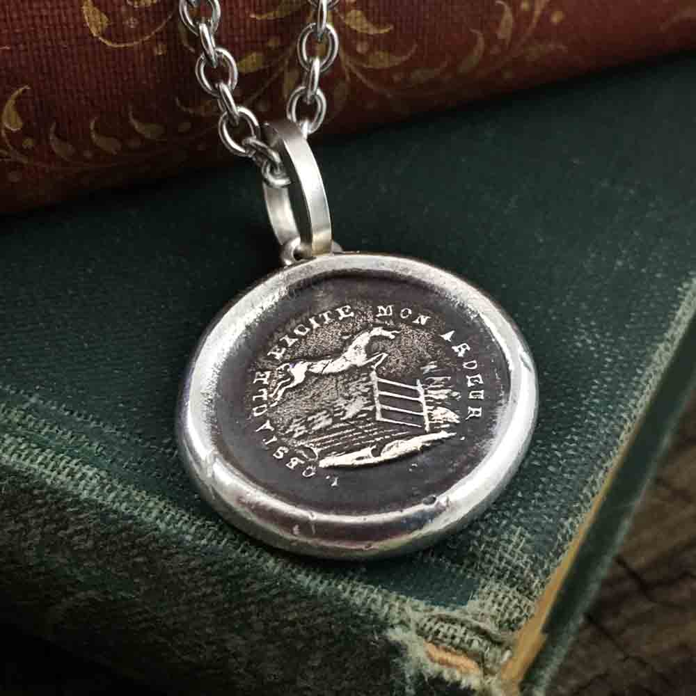 Challenges Bring Out My Best Fine Silver Wax Seal Pendant
