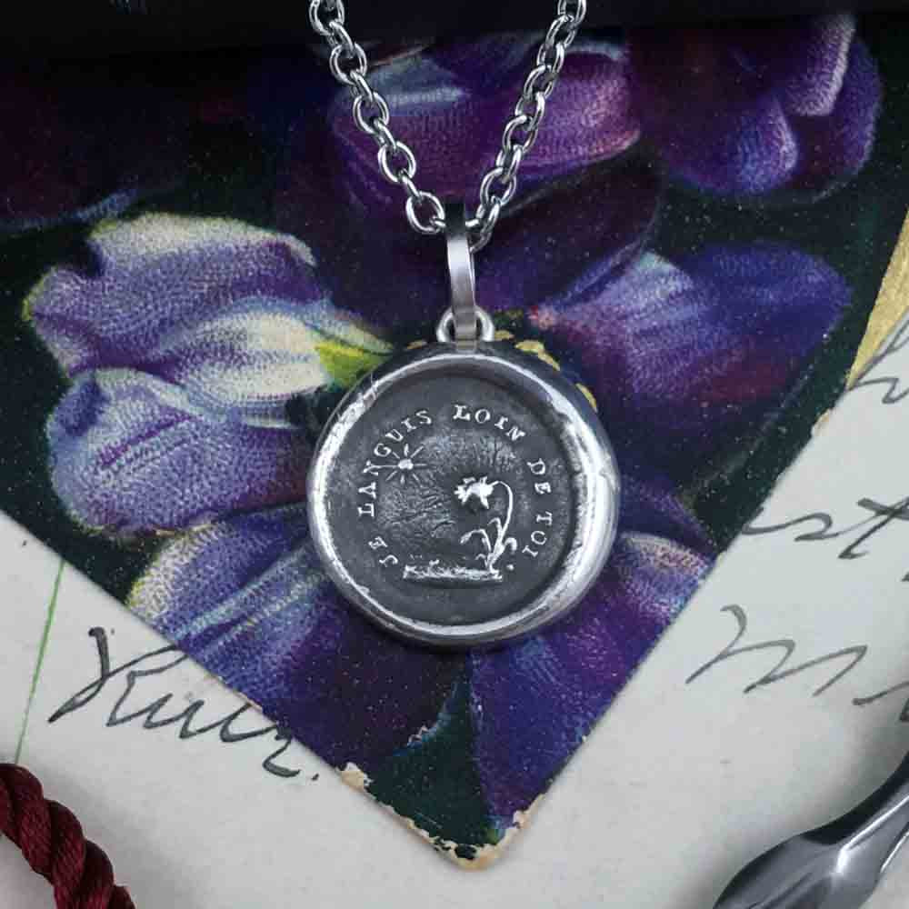 I am Grateful for You Fine Silver Wax Seal Pendant