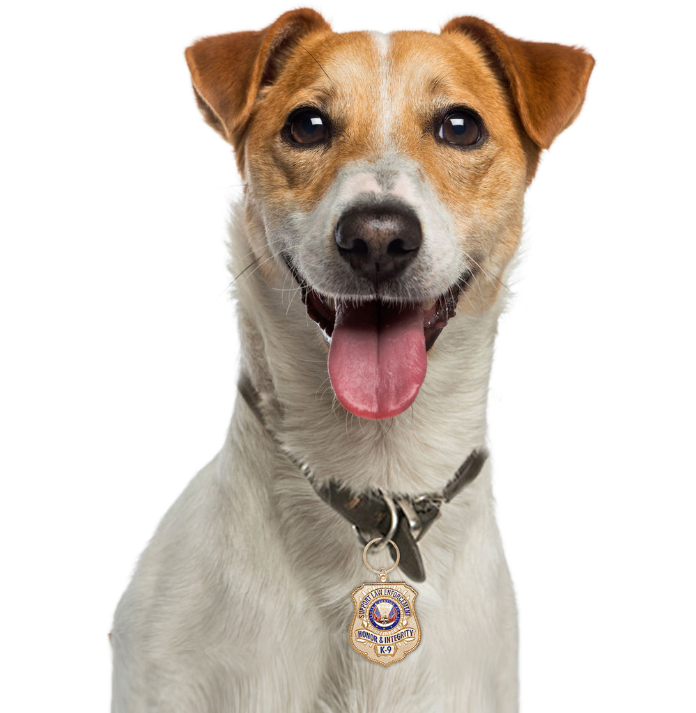 Goofy Puppy with Gold-Plated K-9 Honor Badge