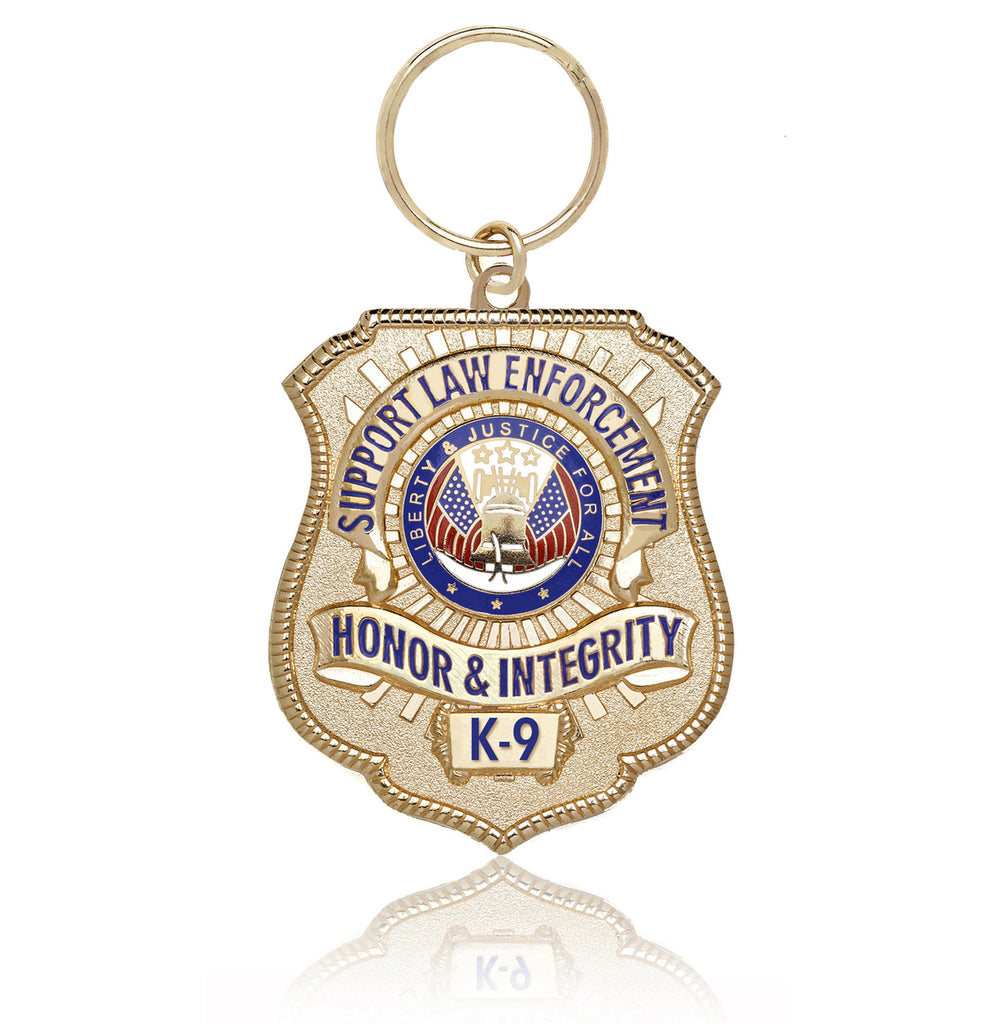 Gold-Plated K-9 Honor Badge
