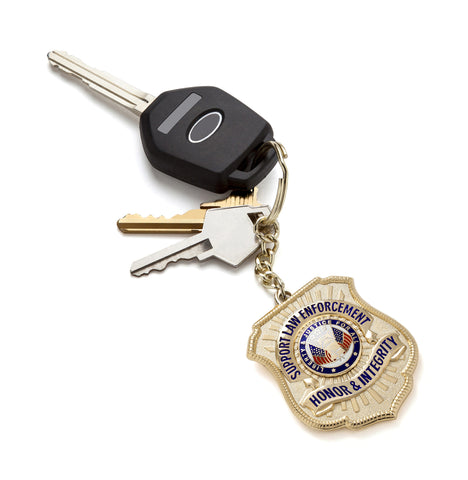 Gold-Plated Honor Badge Keychain