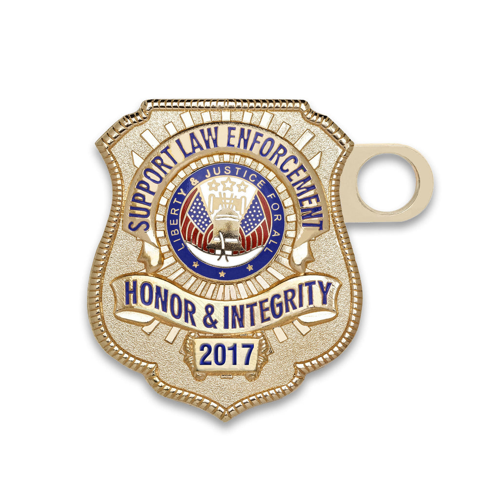 2017 Gold-Plated License Plate Honor Badge
