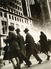 Lepkoff, Rebecca: Early Morning Rush, Midtown Manhattan, 1940s