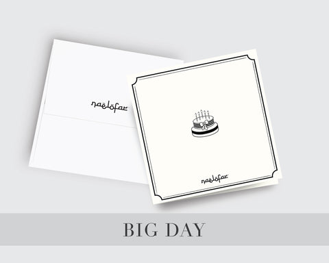 WISH CARD NAELOFAR - BIG DAY