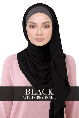 BE LOFA INSTANT - BLACK WITH GREY INNER