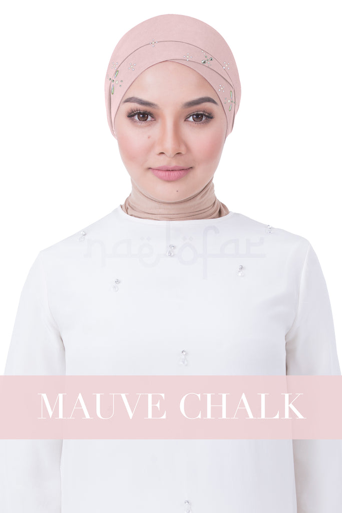 BE LOFA TURBAN LUXE - MAUVE CHALK