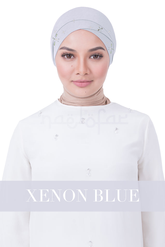 BE LOFA TURBAN LUXE - XENON BLUE