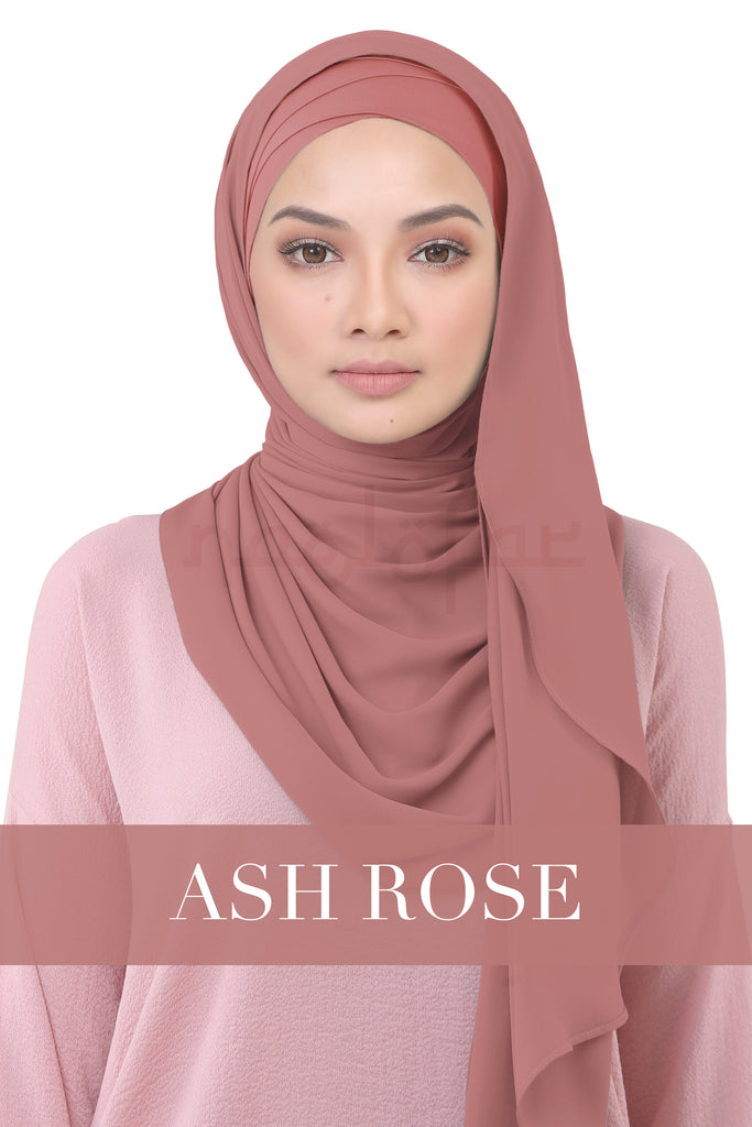 BE LOFA INSTANT KOREAN CHIFFON - ASH ROSE