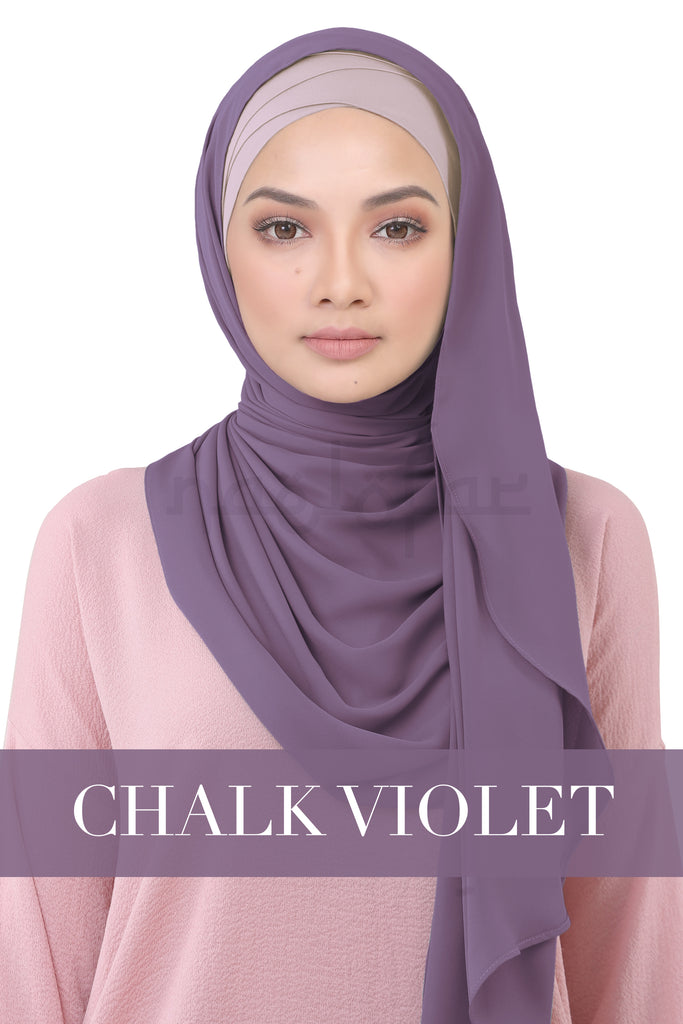BE LOFA INSTANT KOREAN CHIFFON - CHALK VIOLET
