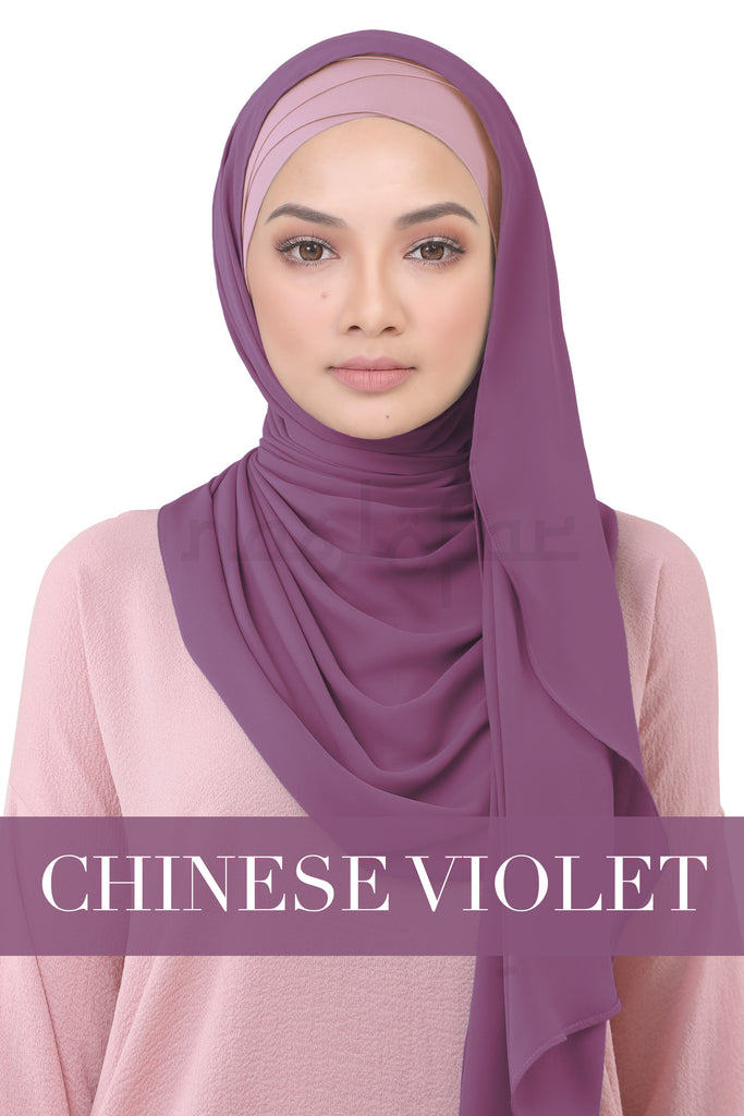 BE LOFA INSTANT KOREAN CHIFFON - CHINESE VIOLET