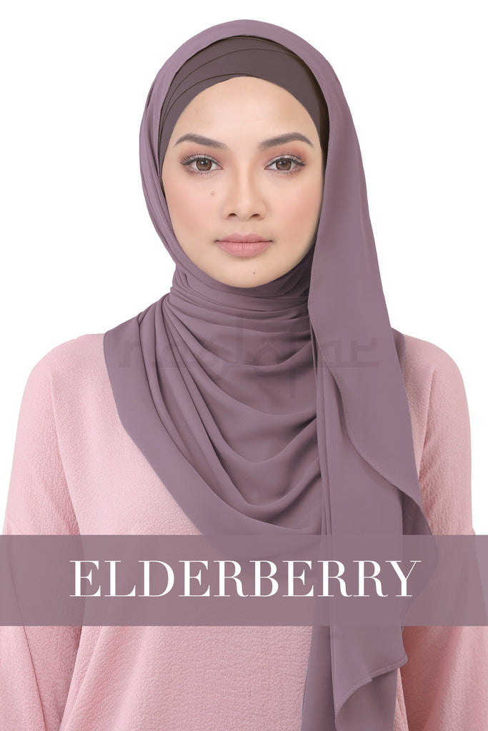 BE LOFA INSTANT KOREAN CHIFFON - ELDERBERRY