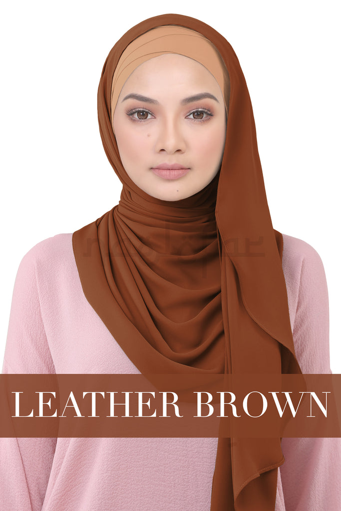 BE LOFA INSTANT KOREAN CHIFFON - LEATHER BROWN