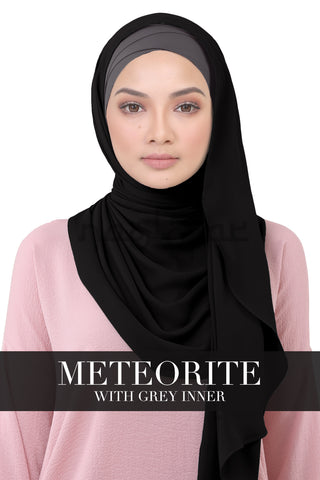 BE LOFA INSTANT KOREAN CHIFFON - METEORITE WITH GREY INNER