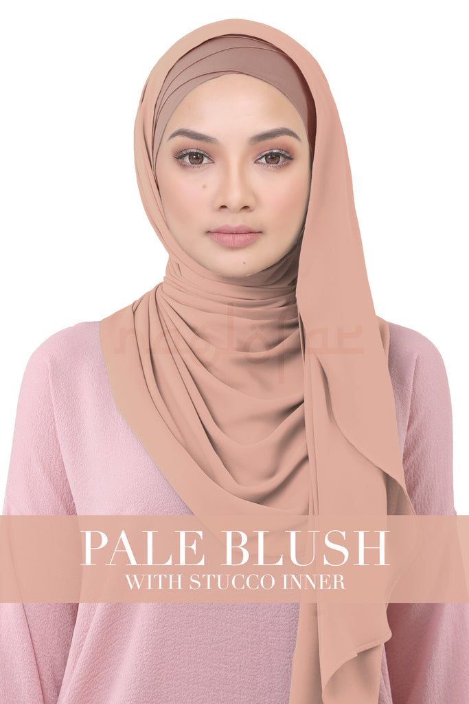 BE LOFA INSTANT KOREAN CHIFFON - PALE BLUSH WITH STUCCO INNER