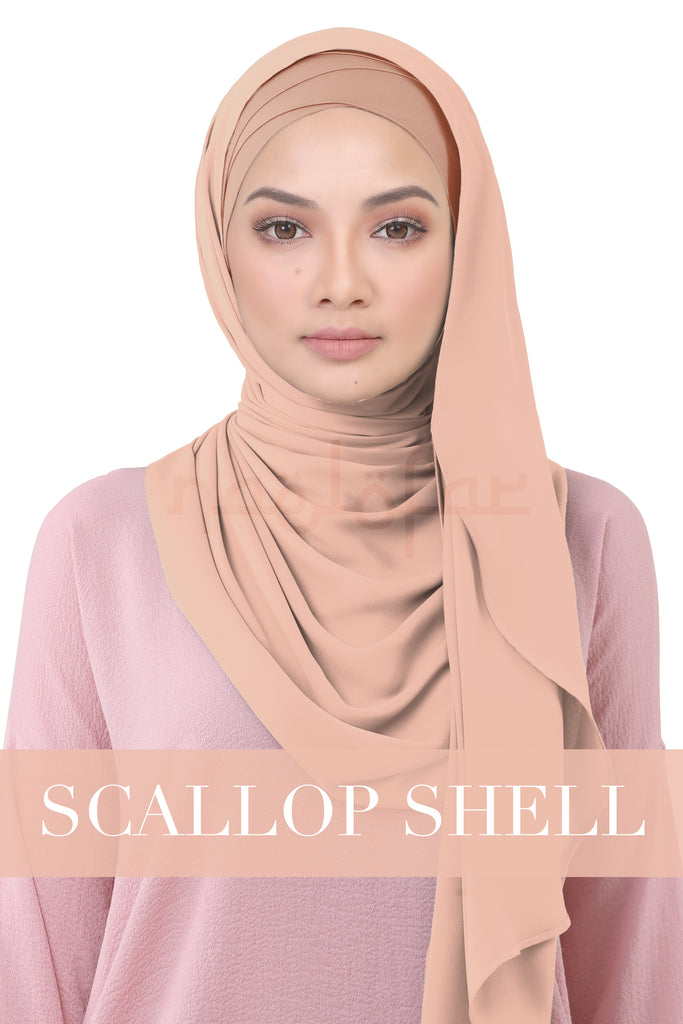 BE LOFA INSTANT KOREAN CHIFFON - SCALLOP SHELL
