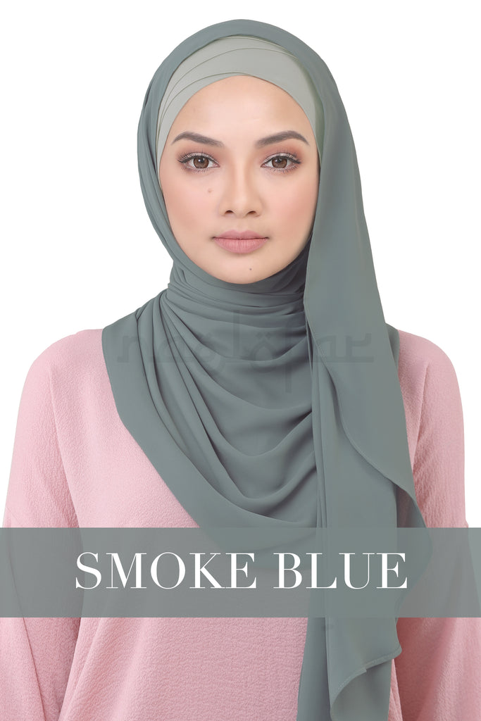 BE LOFA INSTANT KOREAN CHIFFON - SMOKE BLUE
