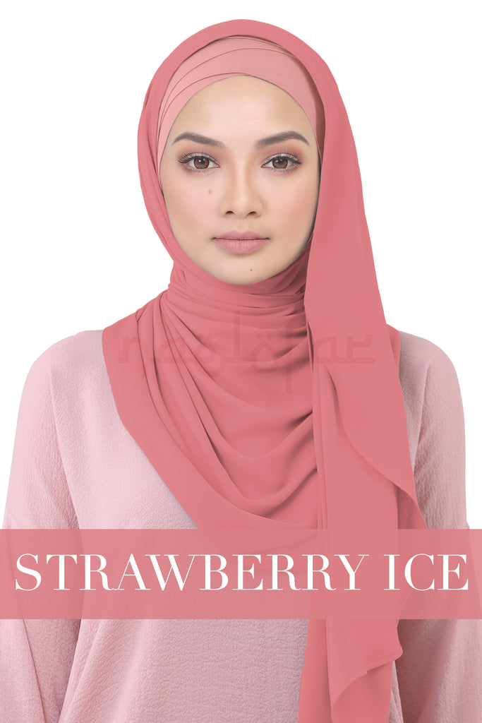 BE LOFA INSTANT KOREAN CHIFFON - STRAWBERRY ICE