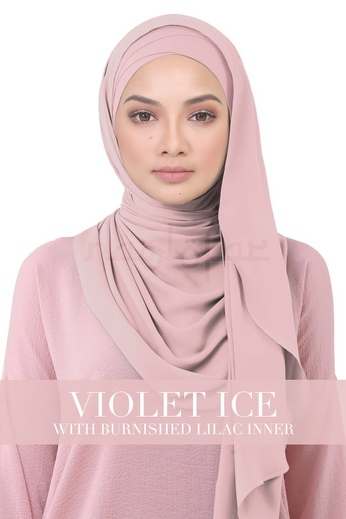 BE LOFA INSTANT KOREAN CHIFFON - VIOLET ICE WITH BURNISHED LILAC INNER