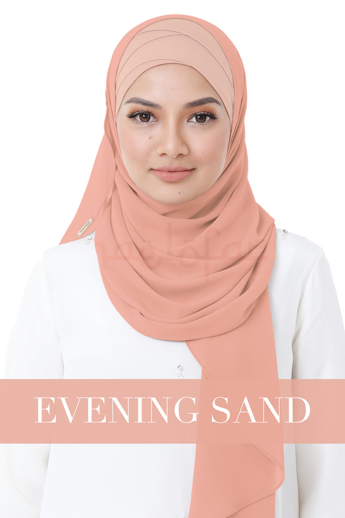 BE LOFA INSTANT HEAVY CHIFFON - EVENING SAND