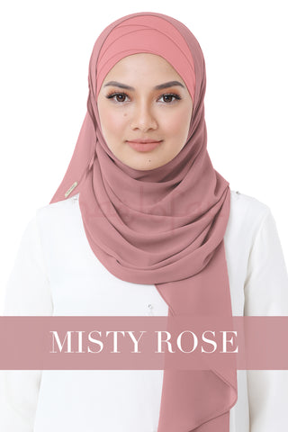 BE LOFA INSTANT HEAVY CHIFFON - MISTY ROSE