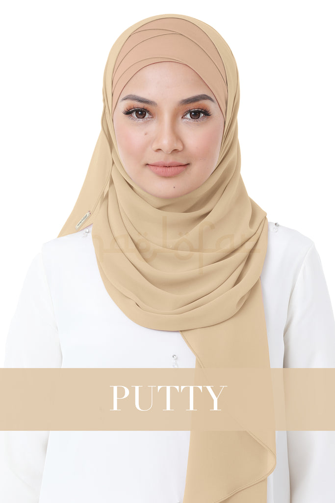 BE LOFA INSTANT HEAVY CHIFFON - PUTTY