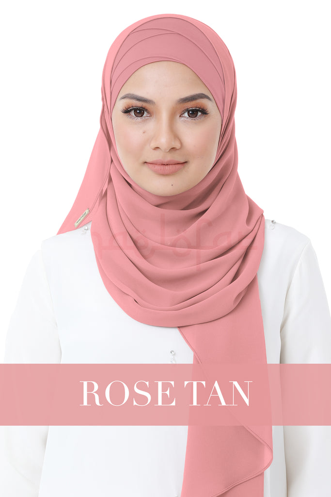 BE LOFA INSTANT HEAVY CHIFFON - ROSE TAN