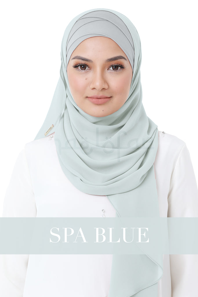 BE LOFA INSTANT HEAVY CHIFFON - SPA BLUE