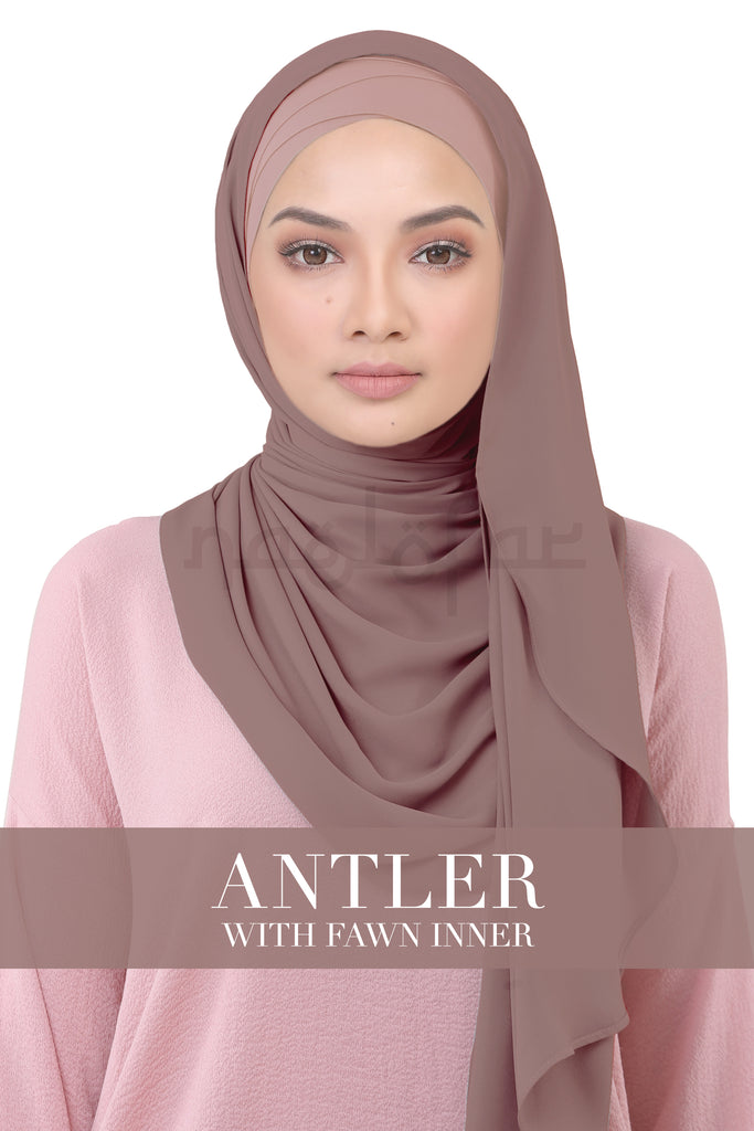 BE LOFA INSTANT KOREAN CHIFFON - ANTLER WITH FAWN INNER