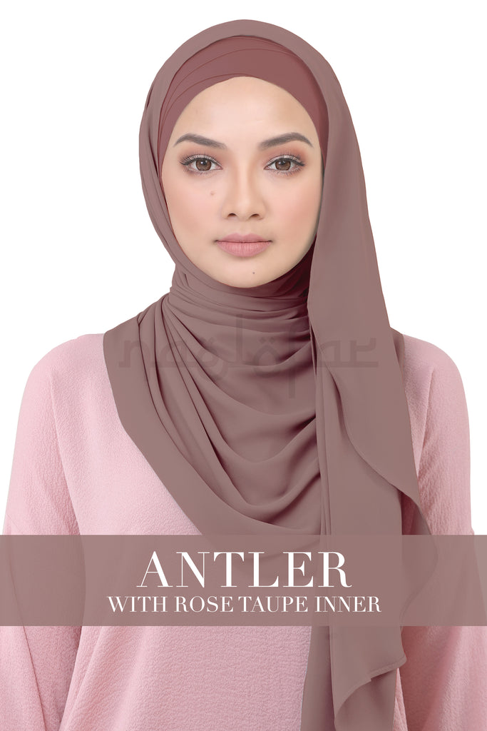 BE LOFA INSTANT KOREAN CHIFFON - ANTLER WITH ROSE TAUPE INNER