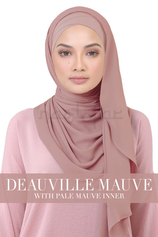BE LOFA INSTANT KOREAN CHIFFON - DEAUVILLE MAUVE WITH PALE MAUVE INNER