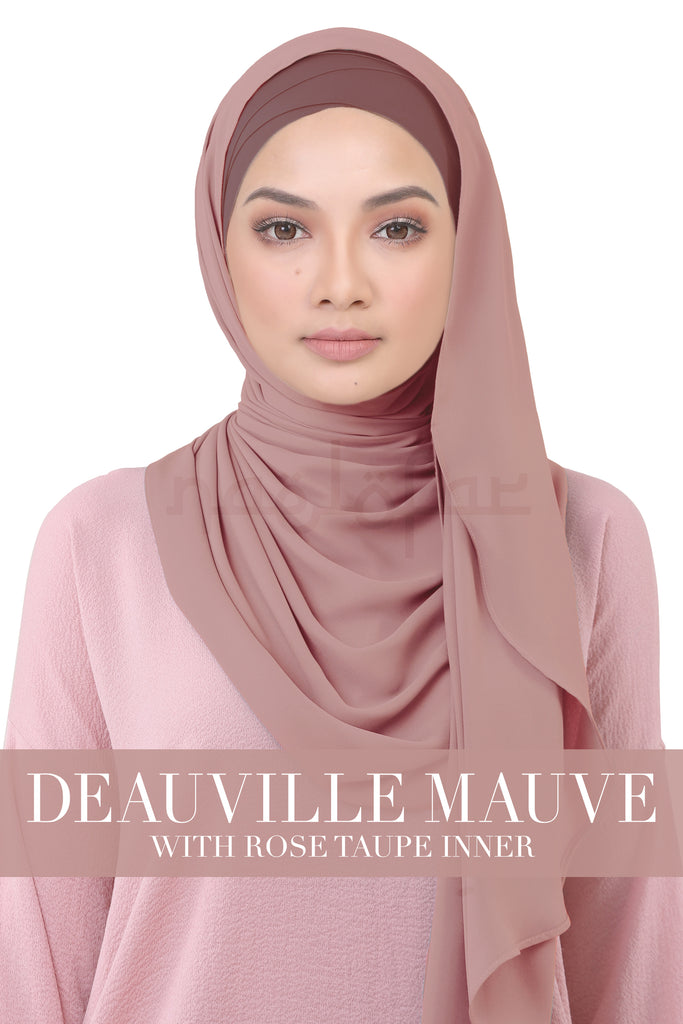 BE LOFA INSTANT KOREAN CHIFFON - DEAUVILLE MAUVE WITH ROSE TAUPE INNER