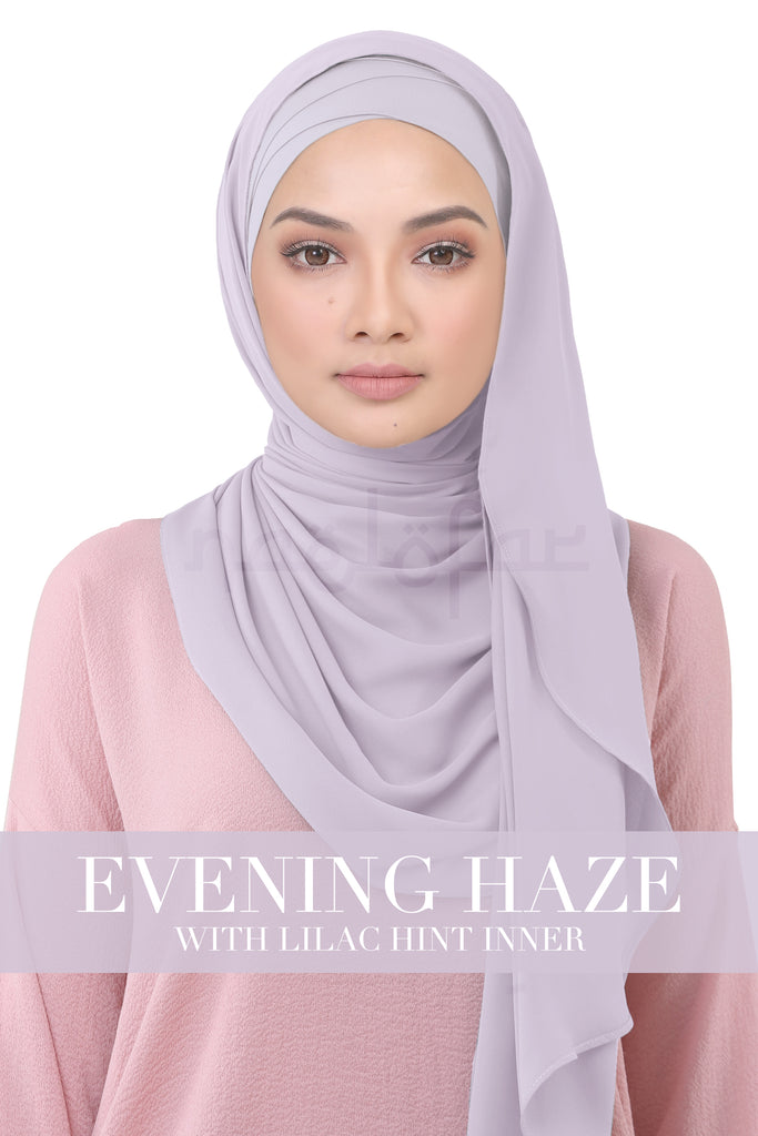 BE LOFA INSTANT KOREAN CHIFFON - EVENING HAZE WITH LILAC HINT INNER